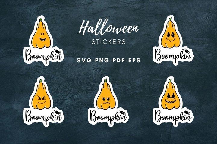 Halloween stickers|Boo pumpkin Sticker|Print and Cut|SVG|PNG