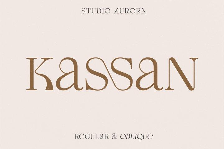 Kassan - Luxury Display Serif Font