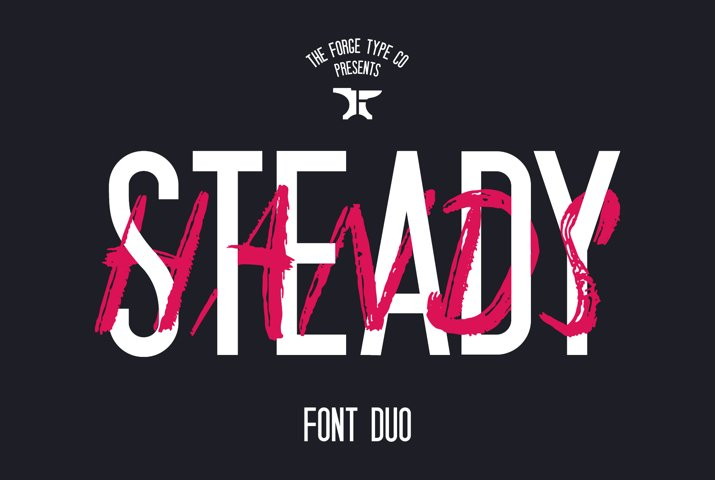 Steady Hands - Font Duo