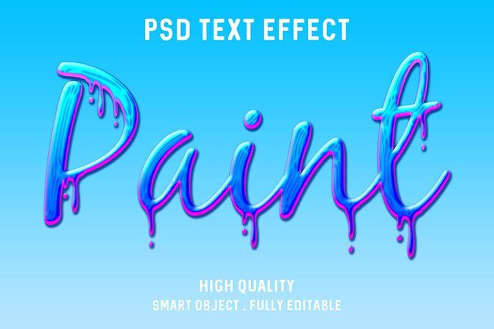 Paint abstract text effect
