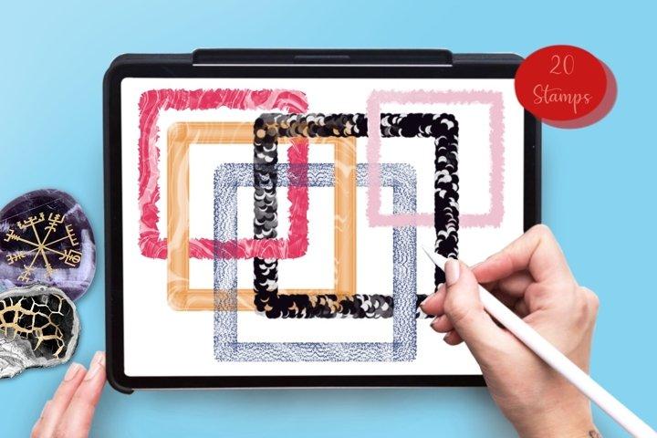 3 D Frames 20 Procreate brush stamps