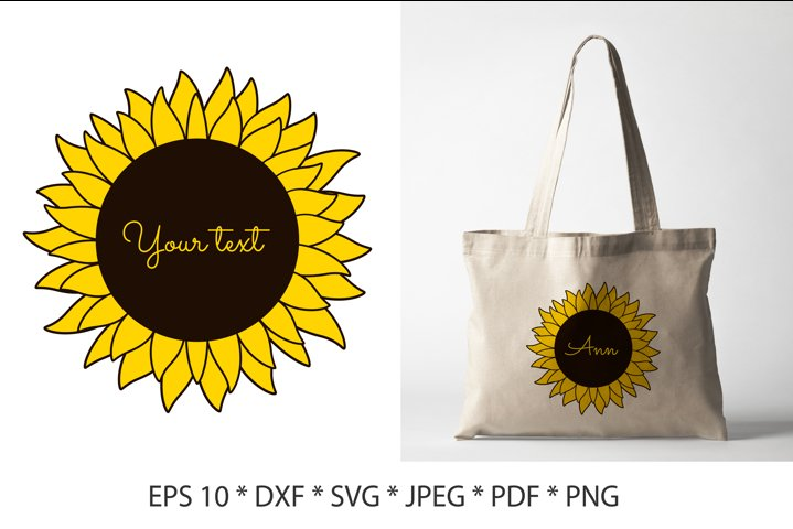 Sunflower SVG. Sunflowers SVG. Sunflower Cut File.