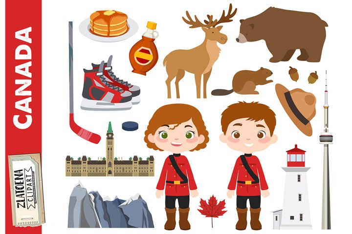 Canada clip art Canadian clipart Canada graphics Maple syrup