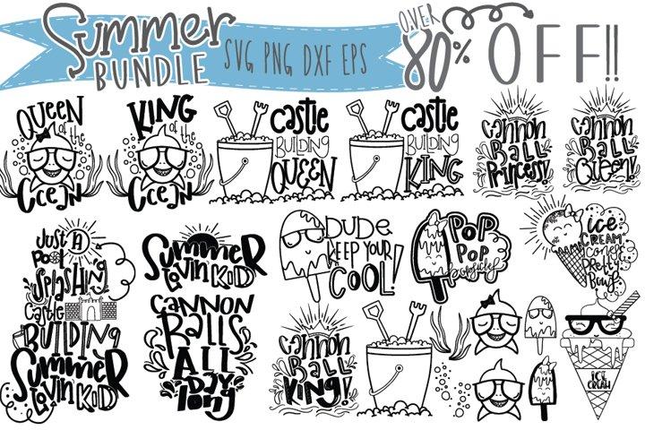 Instant Download- Summer Bundle For Kids-SVG PNG DXF