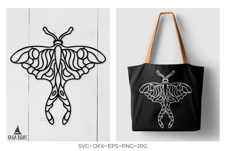 Luna Moth Svg Boho svg Butterfly Svg Celestial Svg Mystic