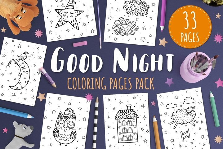Good Night Coloring Pages