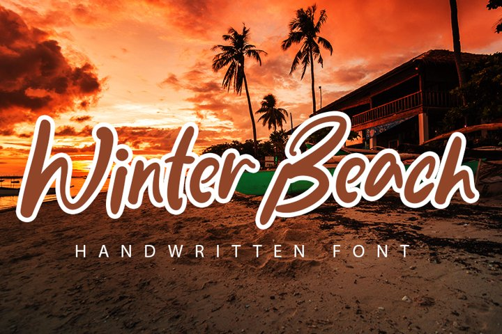 Winter Beach - Elegant Handwritten Font