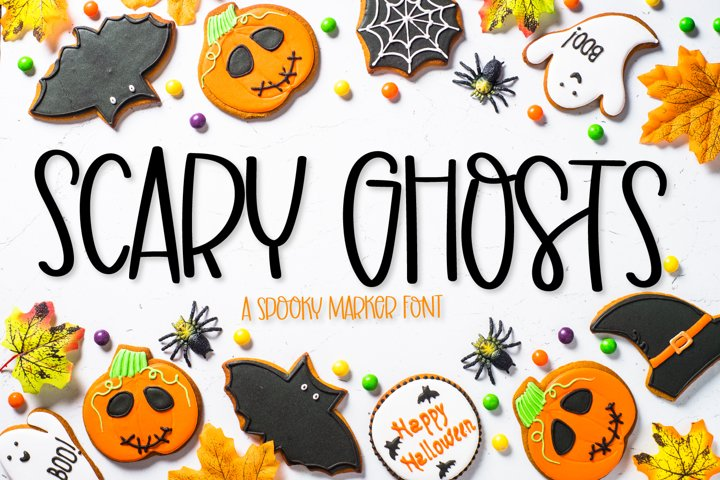 Scary Ghosts - A Spooky Marker Font