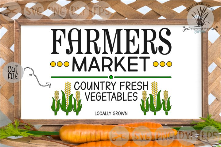 Farmers Market Fresh, Country Vegetables, Cut File, SVG