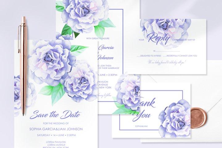 Blue Flowers - Wedding Set