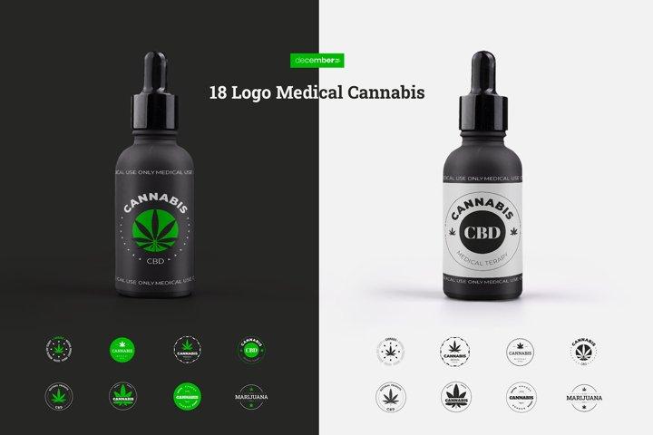 18 Medical Cannabis Logo / Emblem