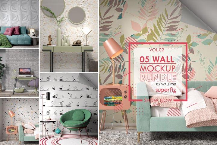 Wallpaper Mockup Bundle Vol.2 - SM98PACK - 5PSD SCENE