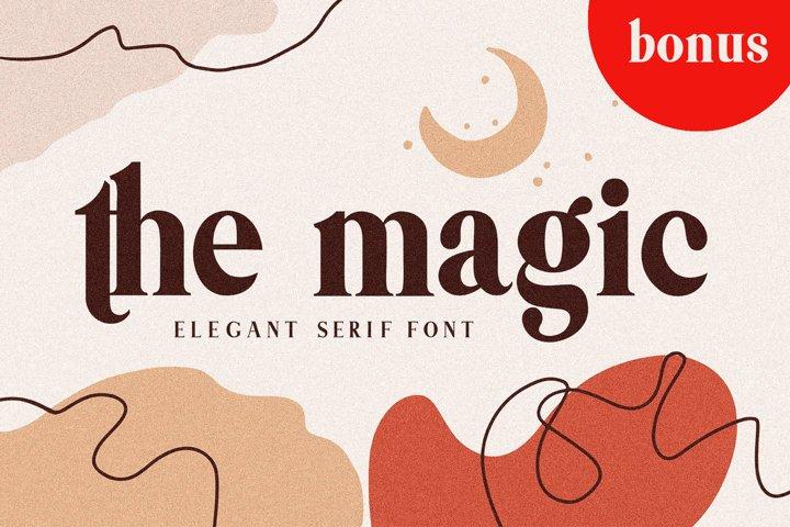 Themagic Serif Font plus Bonus