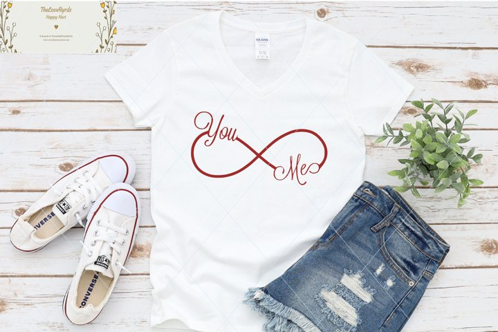 Infinite love svg, love text, valentine svg, you and me svg