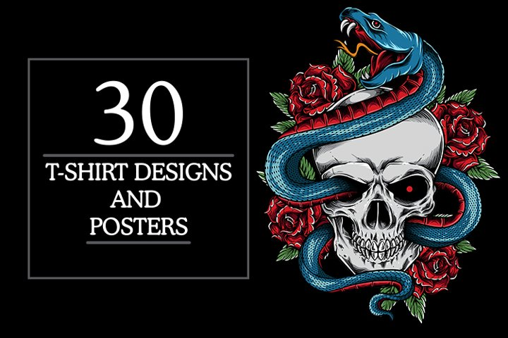 30 t-shirt designs bundle