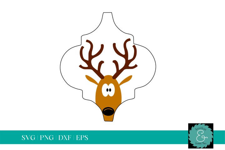 Tile Ornament SVG, Arabesque Tile SVG, Reindeer SVG