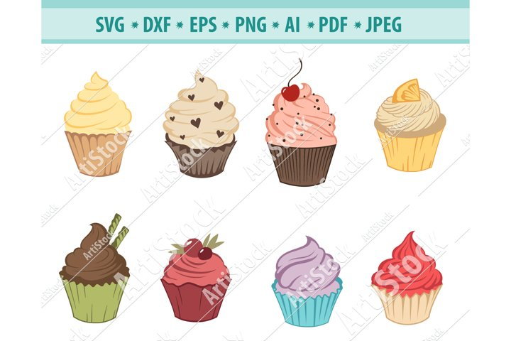 Cupcake SVG File, Sweet Cupcake Svg, Bakery Png, Eps, Dxf