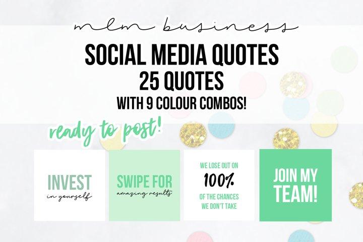 25 x Mint Green MLM Social Media Quotes