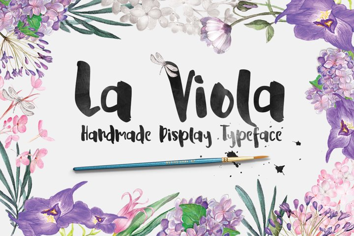 La Viola Typeface - Free Font of The Week Font
