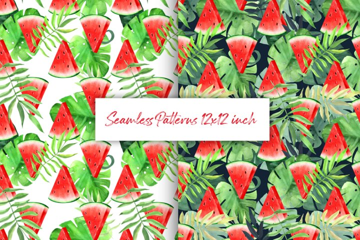 Watermelon tropical patterns