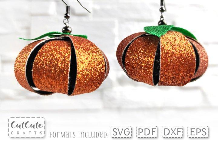 Pumpkin Earrings SVG cut files, Fall Earrings Templates