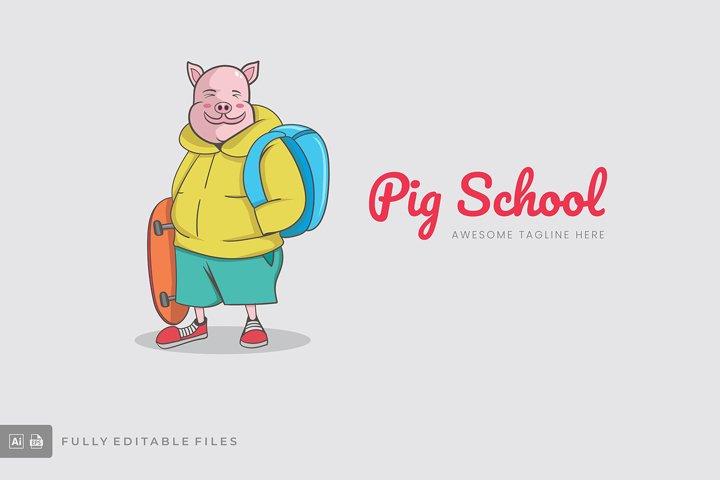 Pig School Logo