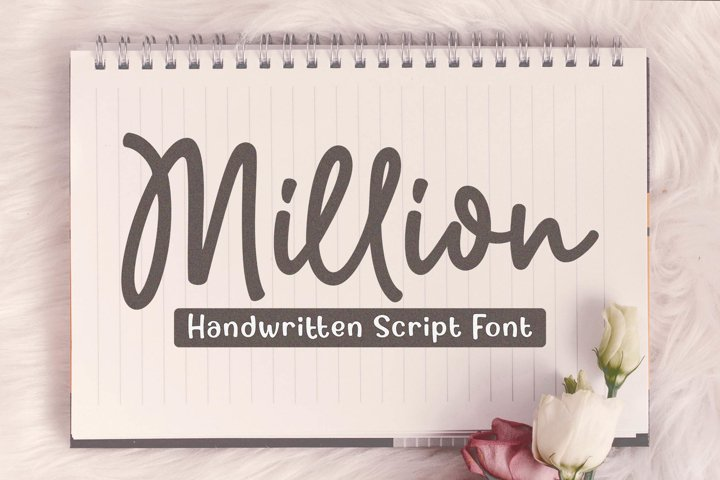 Million - Handwritten Script Font