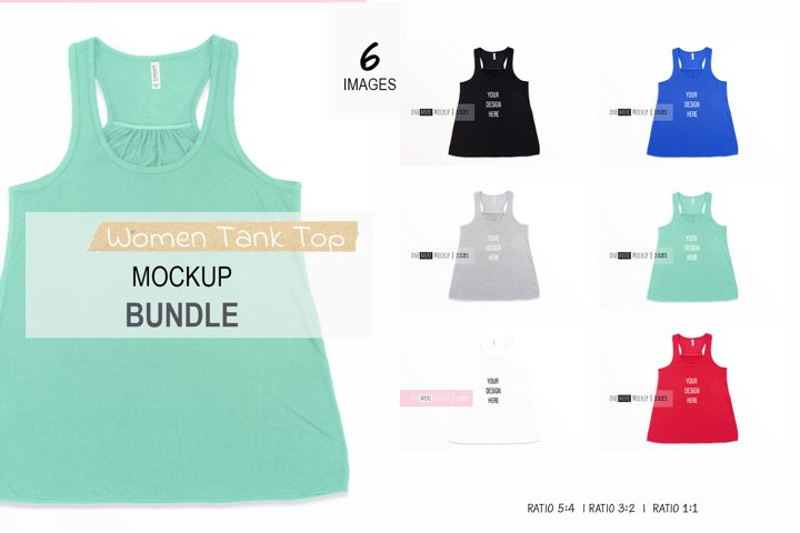 Women Tank Top Mockup Bundle | Bella Canvas 8800