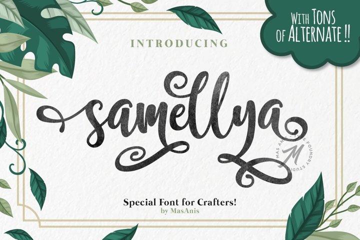 Samellya - Crafters Font!