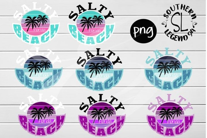 Salty Beach 8 designs png Sublimation print