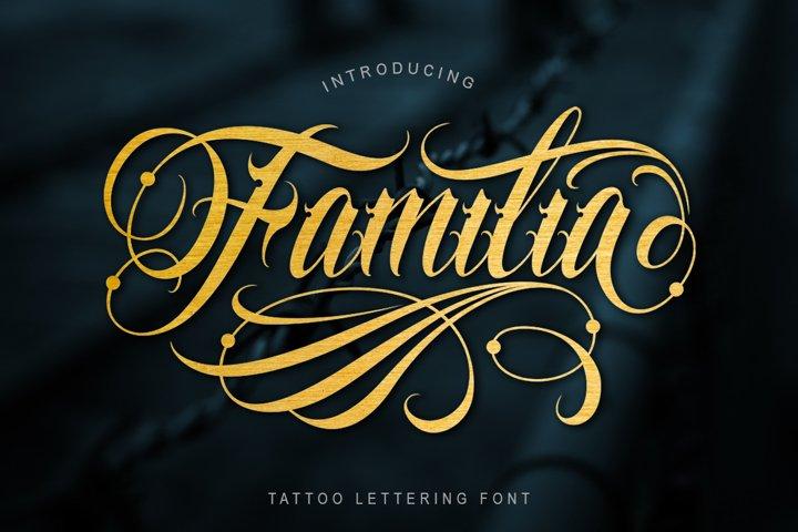 Familia Tattoo Lettering Font