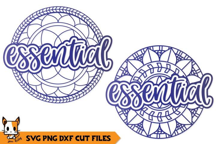 Essential Mandala - Quarantine Zentangle SVG PNG DXF Files