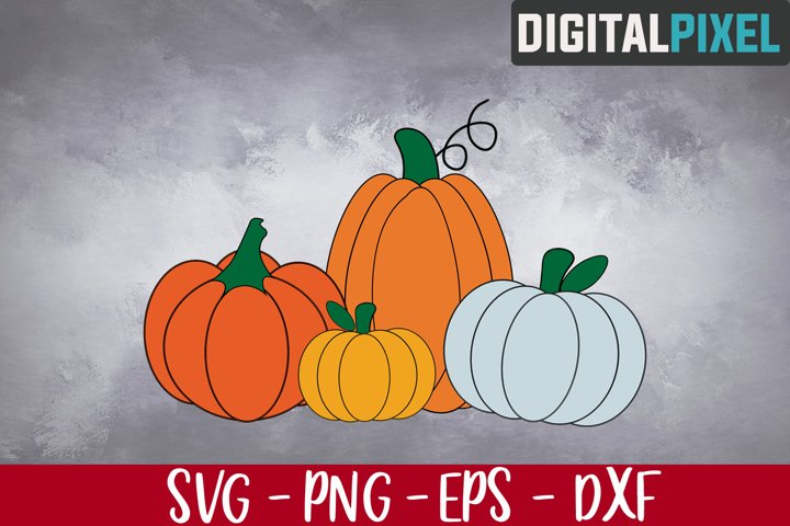 Pumpkins Svg, Fall Svg, I Love Fall Svg, Fall Love Svg