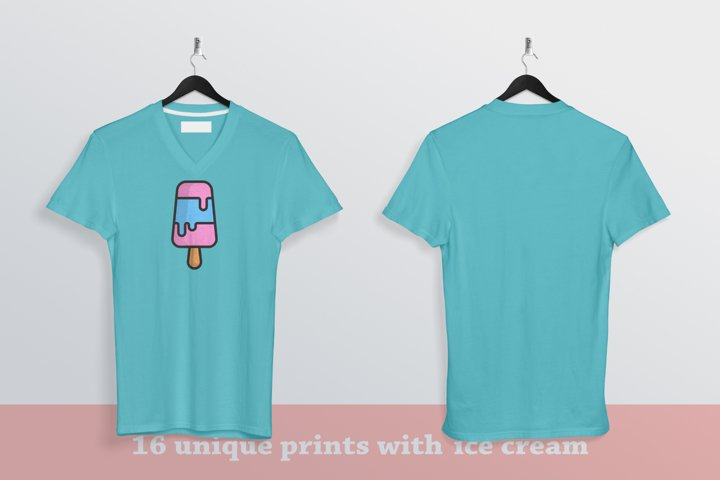 16 unique ice cream prints