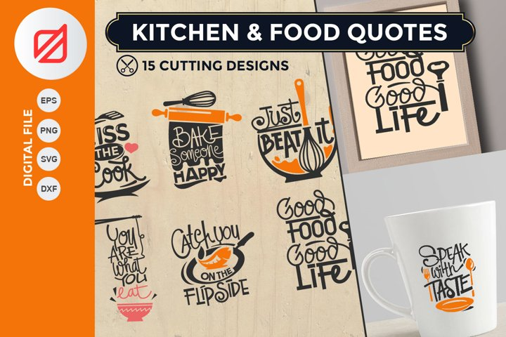 Kitchen and Food Quotes Cutting SVG