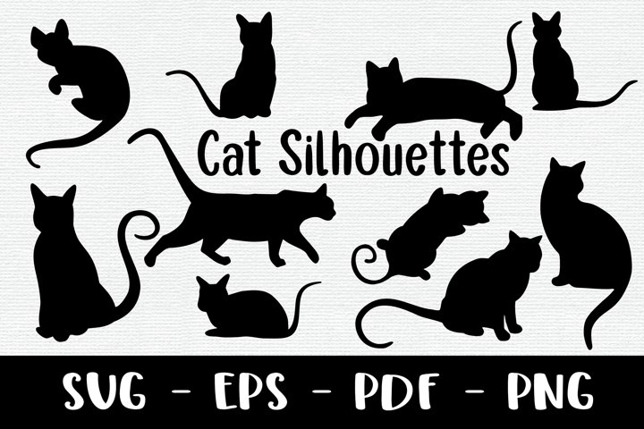 10 Cat Silhouettes