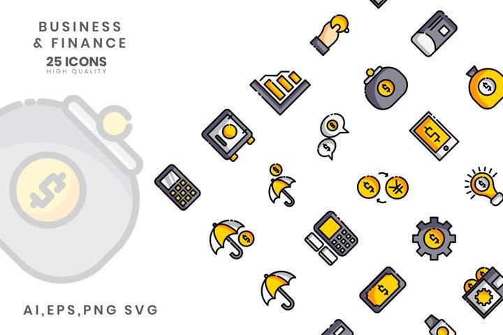 Business Finance Line Color VOL II