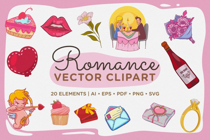 Romance Vector Clipart Pack