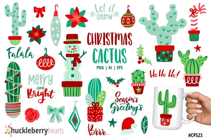 Christmas Cactus Clipart
