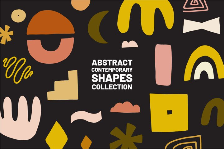 Abstract modern shapes collection