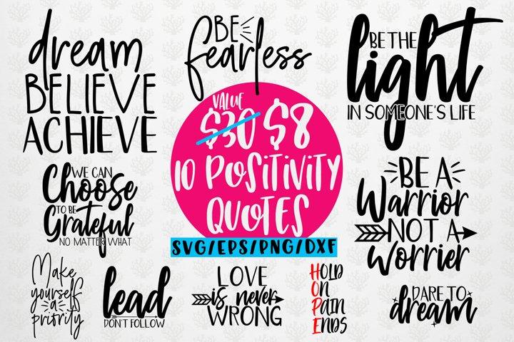 Positivity Quote Bundle - SVG EPS DXF PNG
