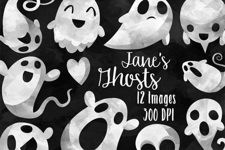 Watercolor Ghost Clipart