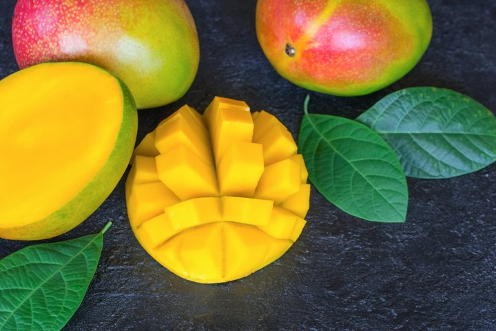Fresh mango. Background with mango.
