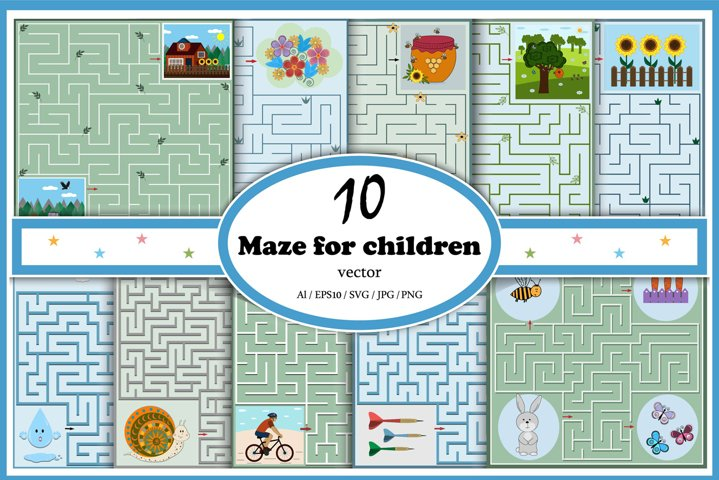 Childrens mazes set 3