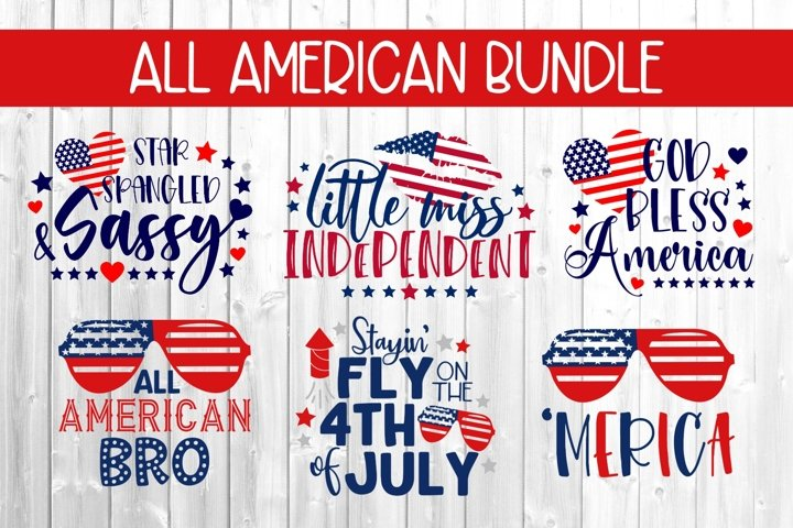All American Patriotic Bundle DXF SVG PNG