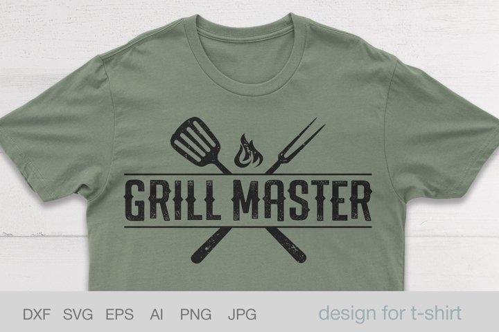 Grill Master svg, Fathers day svg, Design BBQ shirt