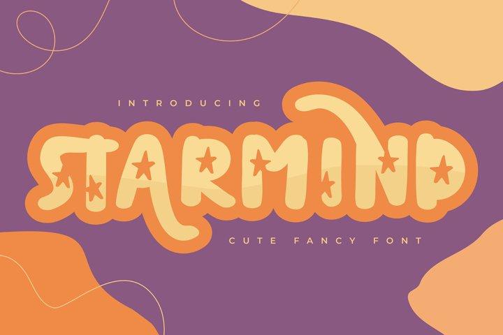 Starmind | Cute Fancy Font