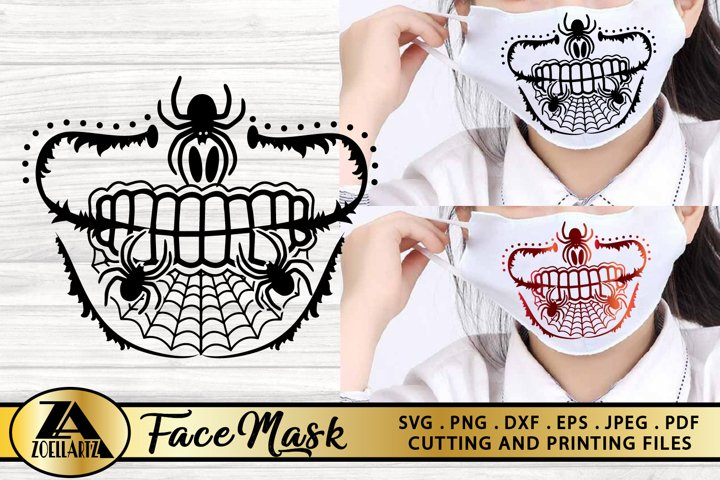 Halloween Mask SVG PNG EPS DXF Halloween SVG Cut files