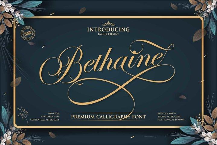 Bethaine Premium Calligraphy Font