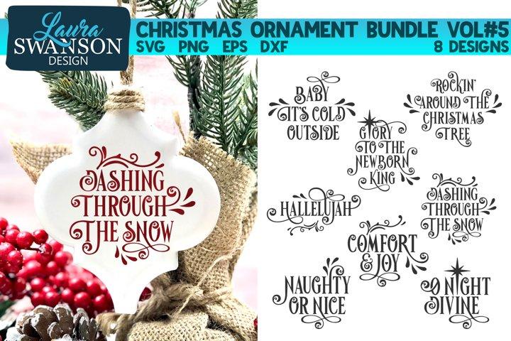 Christmas Ornament Bundle Vol#5   Christmas SVG Bundle